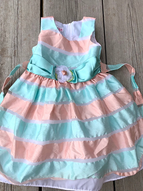 Size 4T JESSICA ANN Sherbet Stripe Party Dress