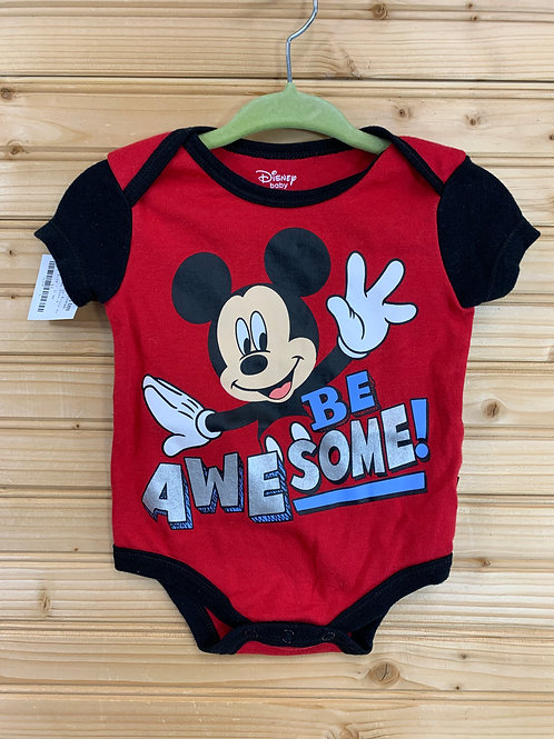 Size 0-3m DISNEY Mickey Mouse Onesie, Used