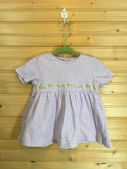 Size 3-6m CARTER'S Lavender Gingham Dress Set