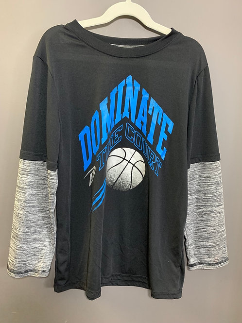 Size 14 Youth PRO PLAYER Basketball Long Sleeve Shirt