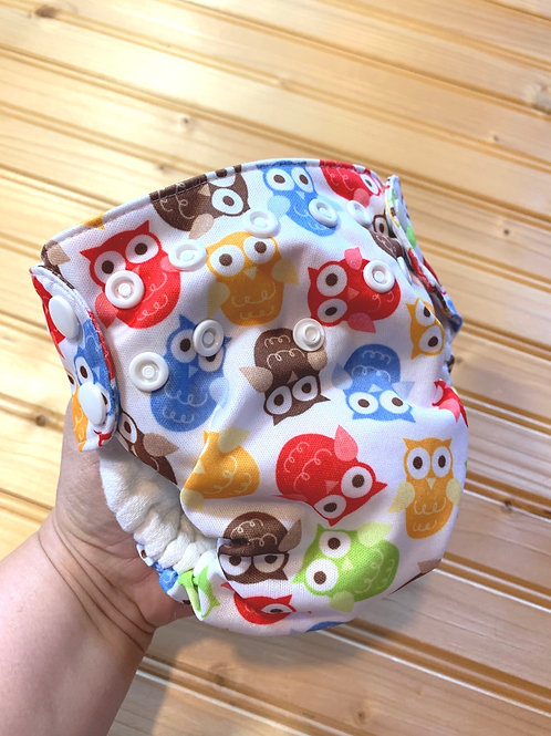 SWADDLEBEES Owls Simplex All-in-One Cloth Diaper