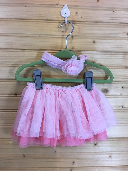 Size 0-6m CHILDREN'S PLACE Pink Tutu and Headband Set