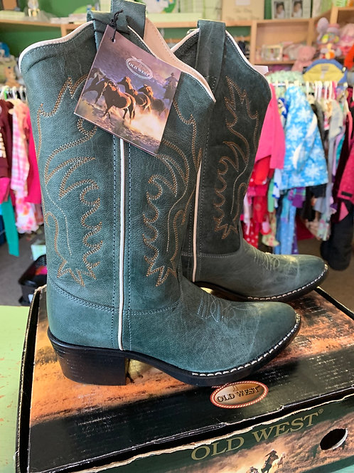 2 Youth Teal Cowboy Boots