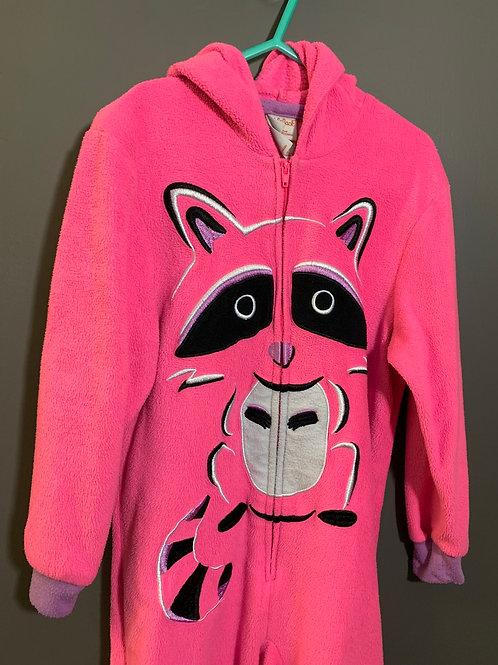 Size 4/5 Kids CAT & JACK Pink Fleece Raccoon Sleep Suit