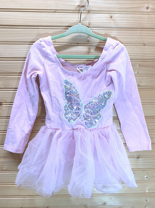 Size 3T IEFIEL Pink Butterfly Dance Leotard, Used