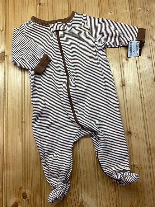 Size 0-3m GERBER Brown Stripe Cotton Sleeper