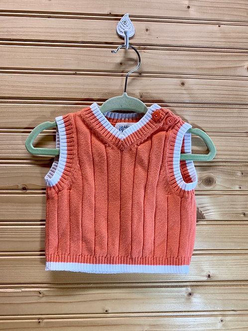 Size 0-3m CHILDREN'S PLACE Orange Knit Sweater Vest, used