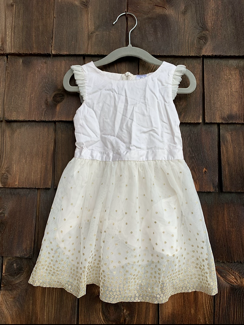 Size 2T CARTER'S White and Gold Dress