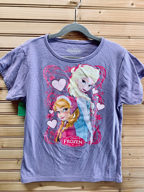Size 14/16 DISNEY Purple Frozen Shirt, Used