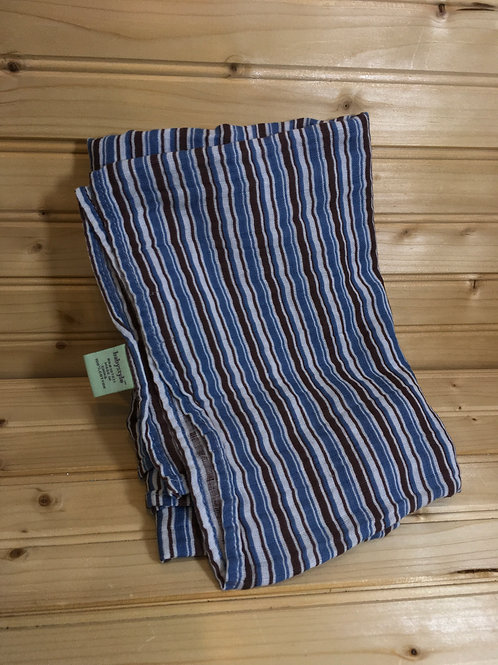 BABYSTYLE - Blue and Brown Stripes Swaddling Blanket