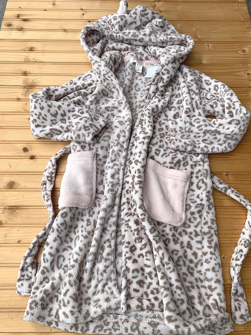 Size 14 GIRLS Tan Cheetah Bathrobe