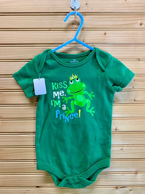 Size 18m Kiss Me Green Frog Onesie, Used