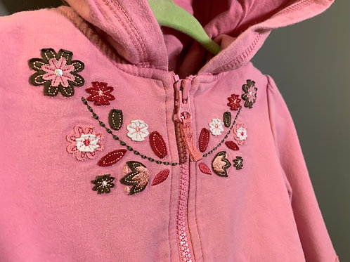 Size 18-24m JOE FRESH Antique Pink Autumn Leaves Hoodie