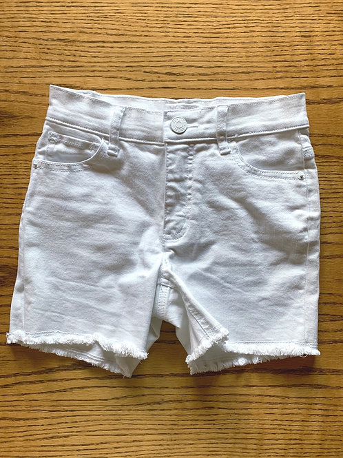 Size 12 Slim Girls JUSTICE White Jean Shorts, Used