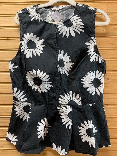 Size 0 Black and White Peplum Shirt