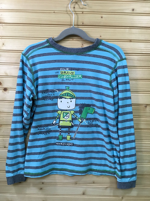 Size 8 Kids SOURIS MINI Striped French Knight Pajama Top