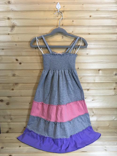 Size 7/8 Girls PINK REPUBLIC Grey Striped Summer Dress