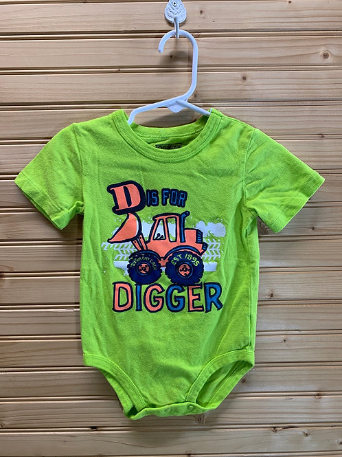 Size 18m OSHKOSH D is for Digger Onesie, Used