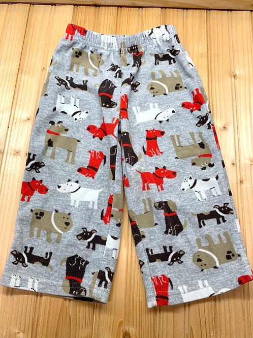 Size 2T CARTER'S Fleece Dog PJ Pants