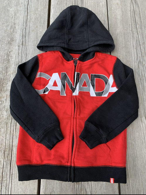 Size 5 Red and Black Canada Hoodie