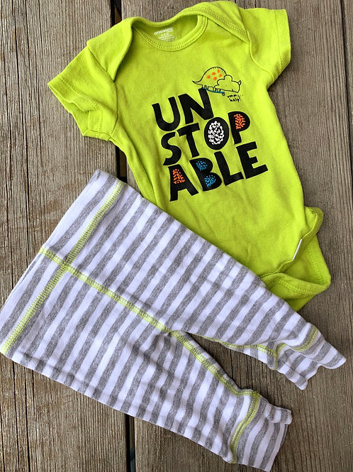 Size 0-3m Unstoppable 2pc Outfit