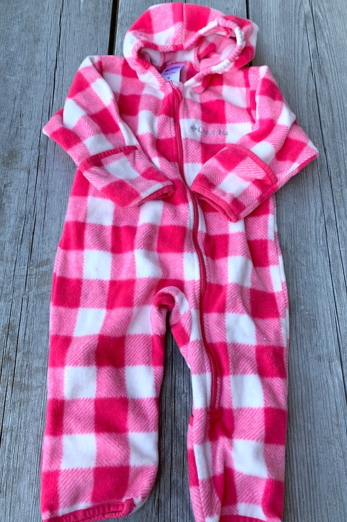 Size 18m COLUMBIA Pink Check Fleece Bunting