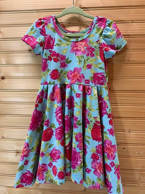 Size 2T LULAROE Stretchy Blue Floral Dress
