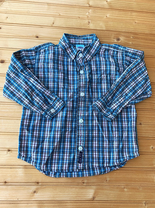 Size 4T OLD NAVY Blue Plaid Shirt