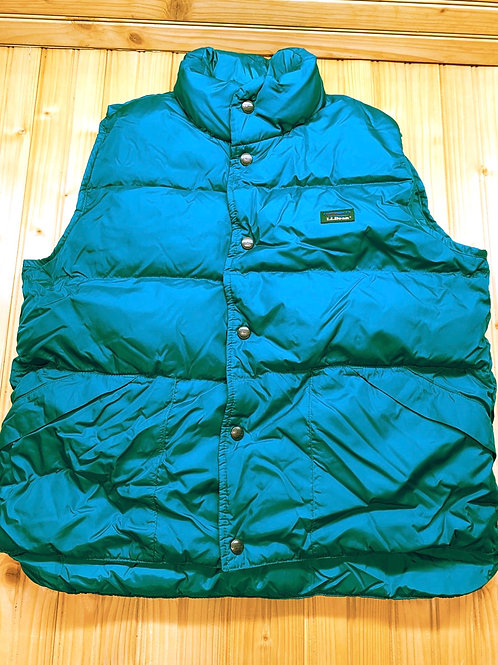 Size 14/16 LL BEAN Teal Puff Vest