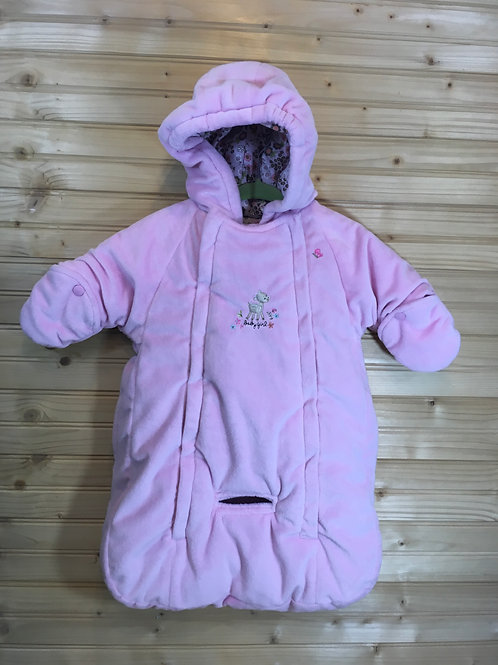 Size 0-6m CARTER'S Pink Deer Winter Bunting with Strap Holes