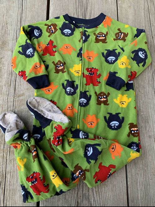 Size 2T CARTER'S Monsters Fleece PJ
