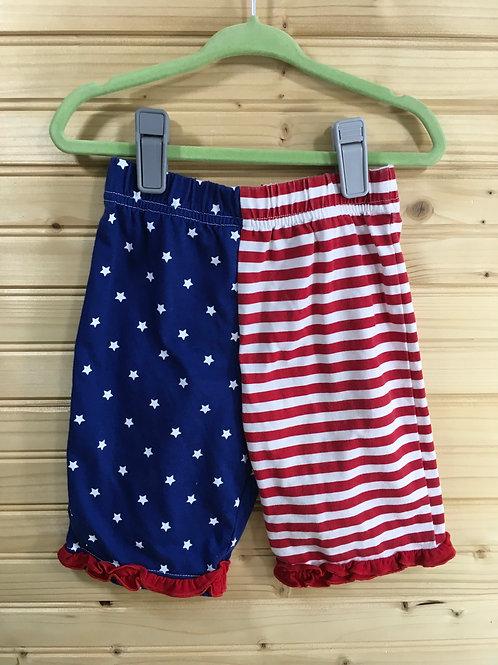 Size 12m American Flag Ruffle Pants