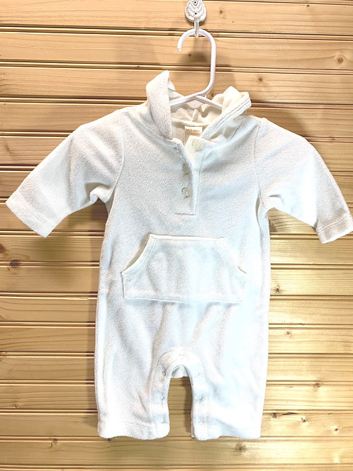 Size 0-3m White Terry Jumper