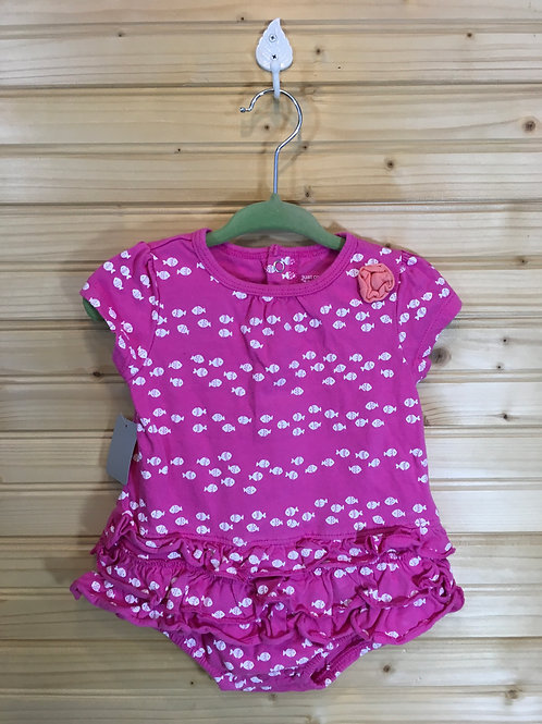 Size 9m JUST ONE YOU Pink Fishes One Piece