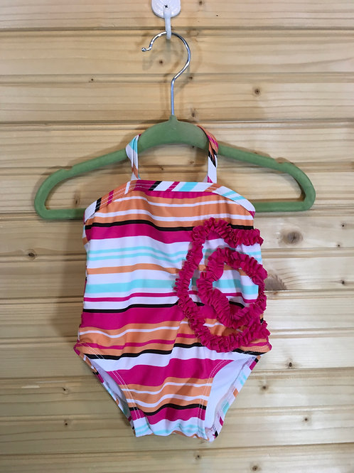 M (infant) - One Piece Striped Swim Suit