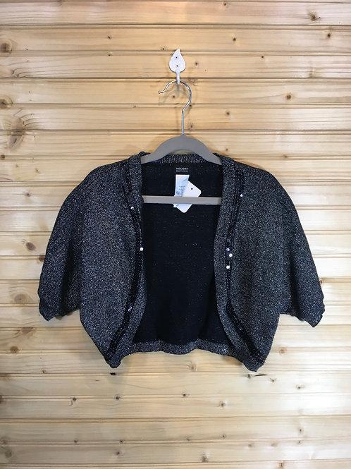 14/16Y Shiny Black Bolero Jacket