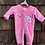 Size 0-3m Pink Fleece Baby's First Christmas PJ