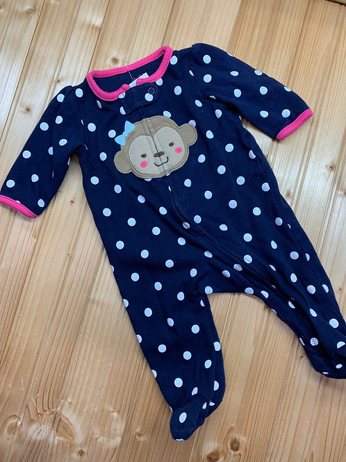 Size 0-3m CARTER'S Monkey Cotton Sleeper