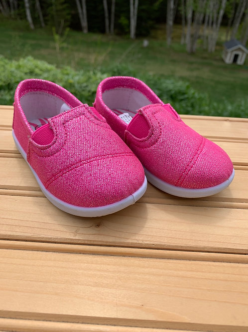 Size 6 Toddler Pink Glitter Shoes