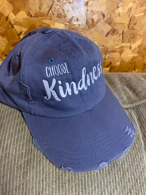 New Adult Size DBaseball Hat - Choose Kindness, Distressed