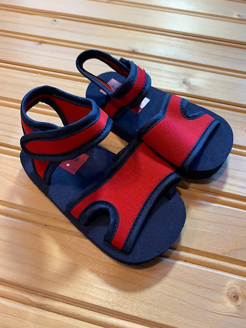 Size 3 Infant Navy and Red Sandals