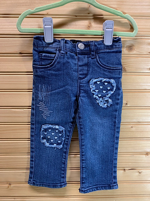 Size 12m ARIZONA Distressed Patch Jeans, Used