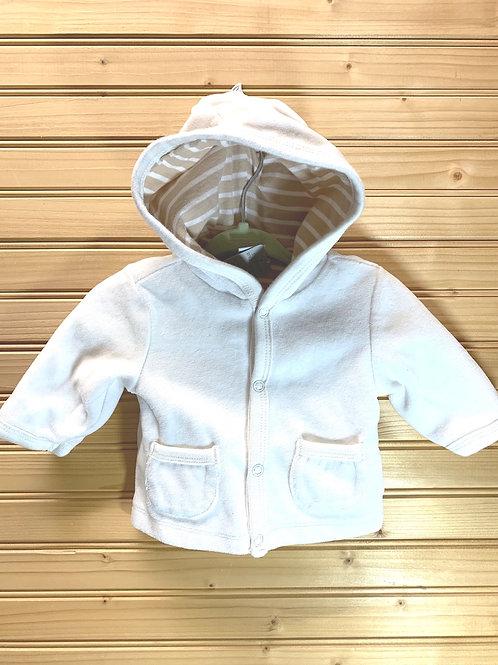 Size 0-3m White Jacket