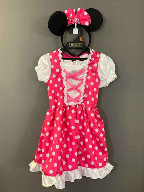 Size 2T-4T DISNEY Minnie Mouse Costume with Ears