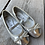Size 8 Lil Kids ANGELS Silver Mary Janes