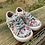 Size 6? Toddler BLOWFISH Grey Floral Canvas Shoes