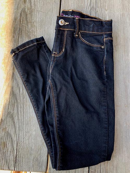 Size 8 Girls JORDACHE Black Skinny Slim Jeans, Used