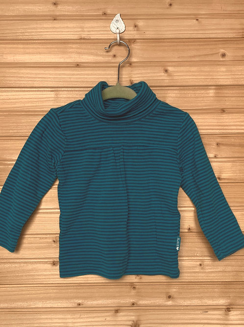 Striped Teal Turtleneck, Full view