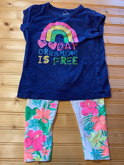 Size 4T CARTER'S Dreaming is Free 2pc Outfit, Used