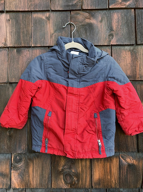Size 3T LL BEAN Red and Grey Jacket